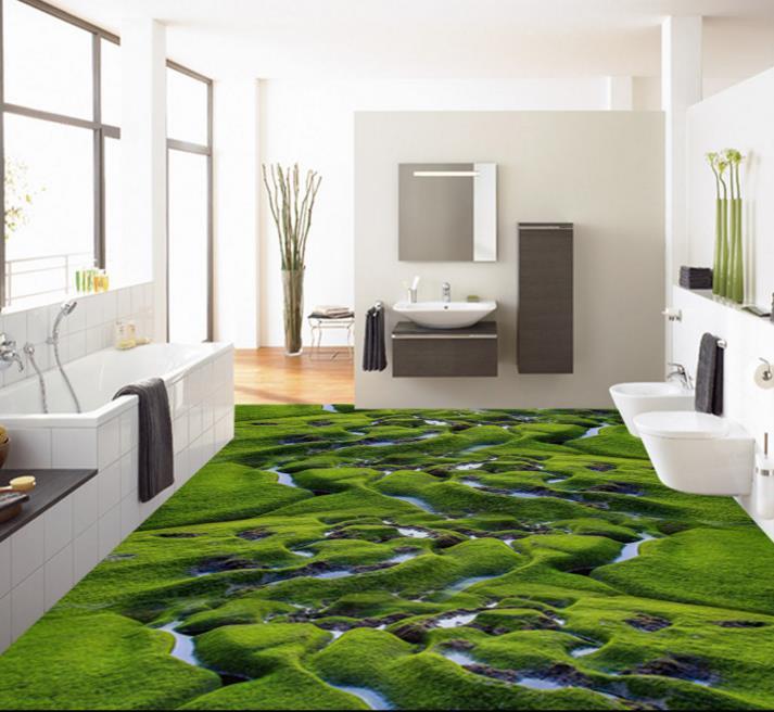 Papel-de-parede-3d-font-b-floor-b-font-font-b-tiles-b-font-creek-wetland
