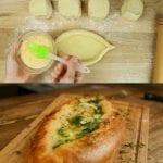 Реших да изненадам домашните: цепнах питките, напълних със сирене, чукнах яйчице и хоп
