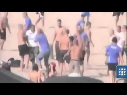 Polish men protecting their women(FIGHT HARD) in Sopot (Poland)(VIDEO)
