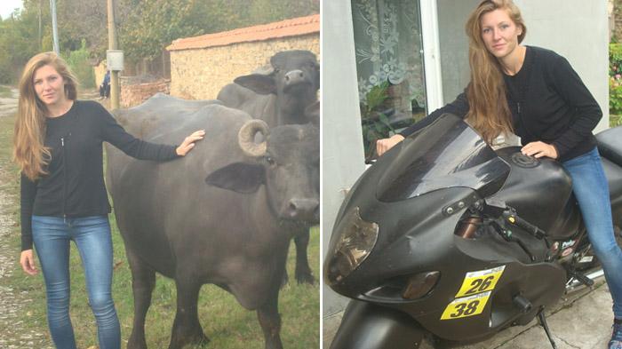 Млада рокерка отглежда биволи в Горна Липница