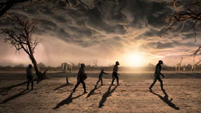 Вкаменелости на стъпки разказват историята на човешкото начало