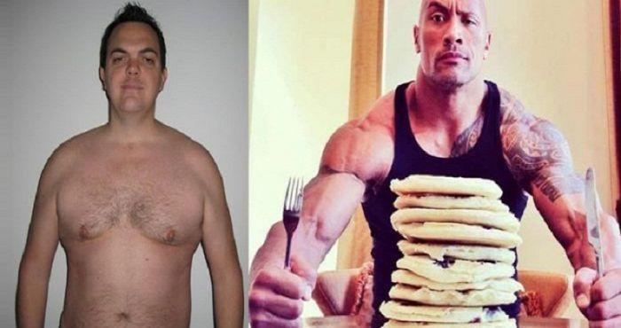 Този мъж реши да спазва диетата на Скалата! Вижте как изглежда днес!