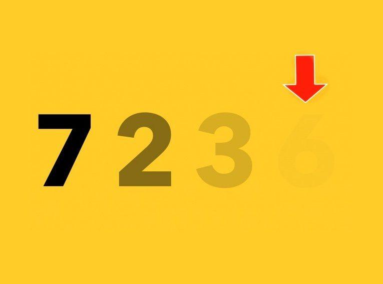 Виждате ли цифрата? Тя показва дали имате проблеми със зрението