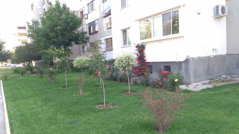 Съседи за пример! Тракийци превърнаха градинката пред блока в оазис (СНИМКИ)